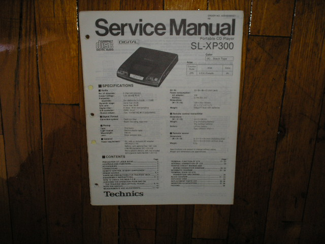 SL-XP300 Portable CD Player Service Manual