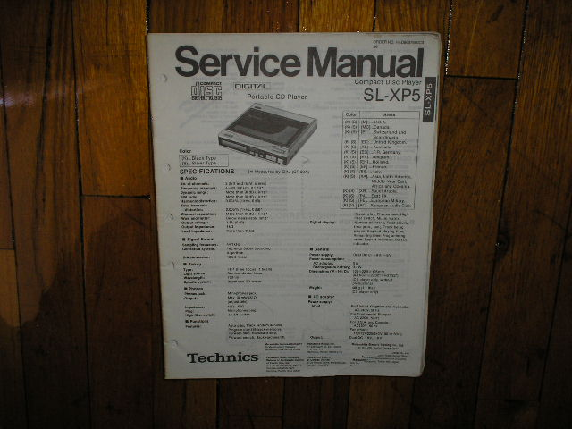 SL-XP5 Portable CD Player Service Manual