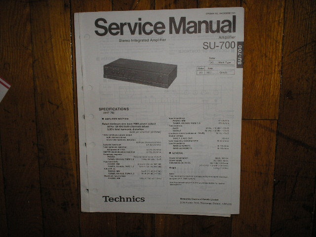 SU-700 Amplifier Service Manual