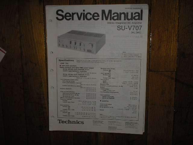 SU-V707 Amplifier Service Manual