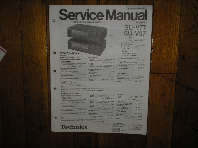 SU-V77 SU-V97 Amplifier Service Manual