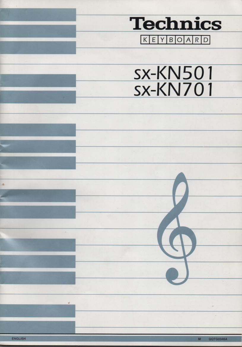 SX-KN501 SX-KN701 Organ Keyboard Operating Instruction Manual