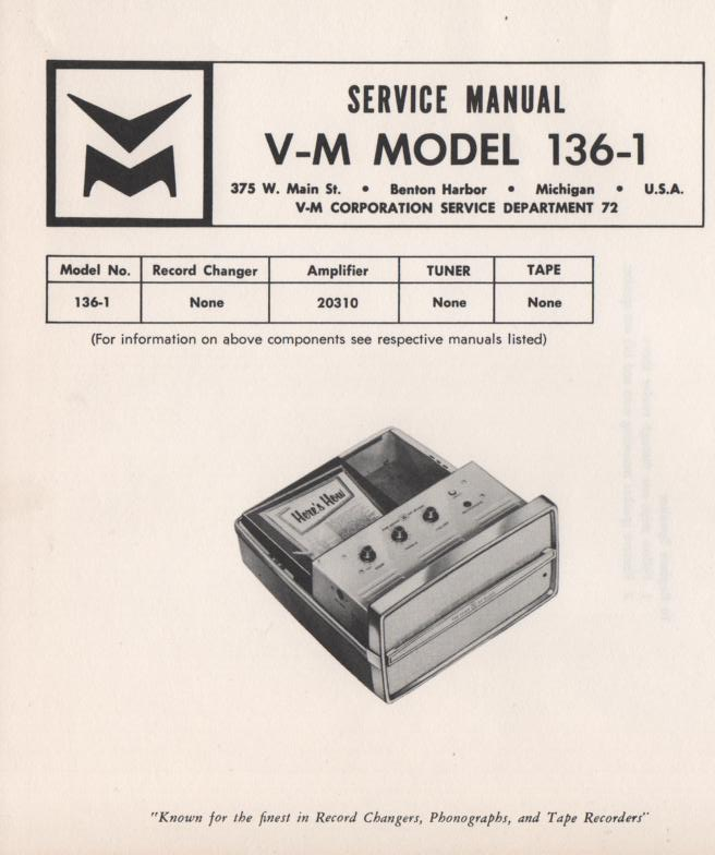 136-1 Portable Amplifier Service Manual.  Comes with 20310 manual