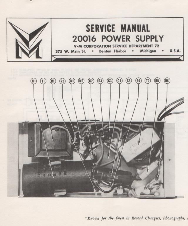 20016 Power Supply Service Manual