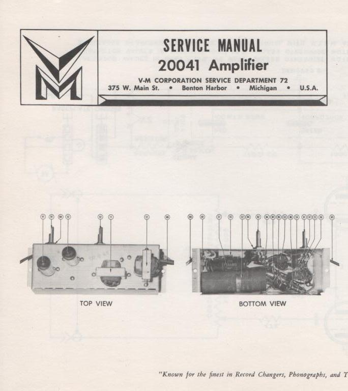20041 Amplifier Service Manual