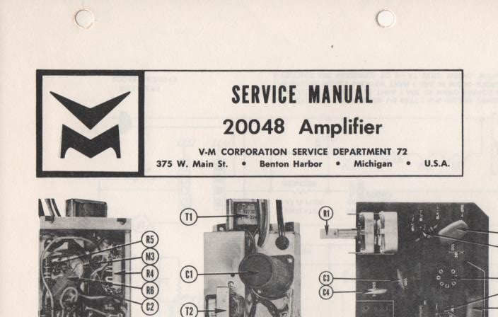 20048 Amplifier Service Manual
