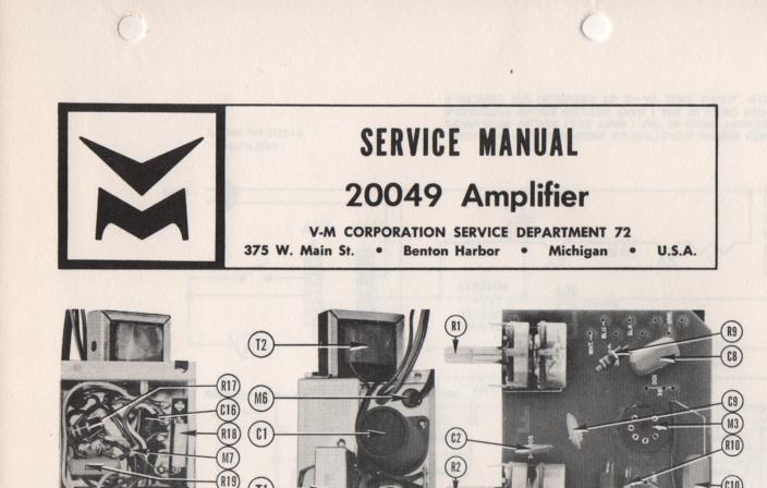 20049 Amplifier Service Manual