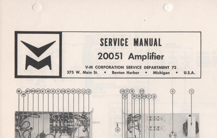 20051 Amplifier Service Manual