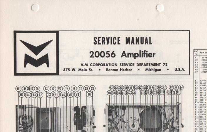 20056 Amplifier Service Manual