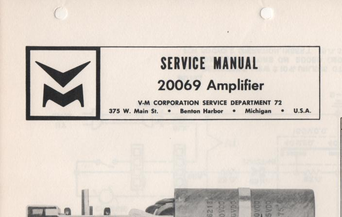 20069 Amplifier Service Manual