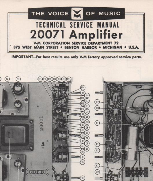 20071 Amplifier Service Manual