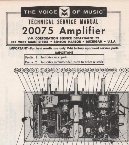 20075 Amplifier Service Manual