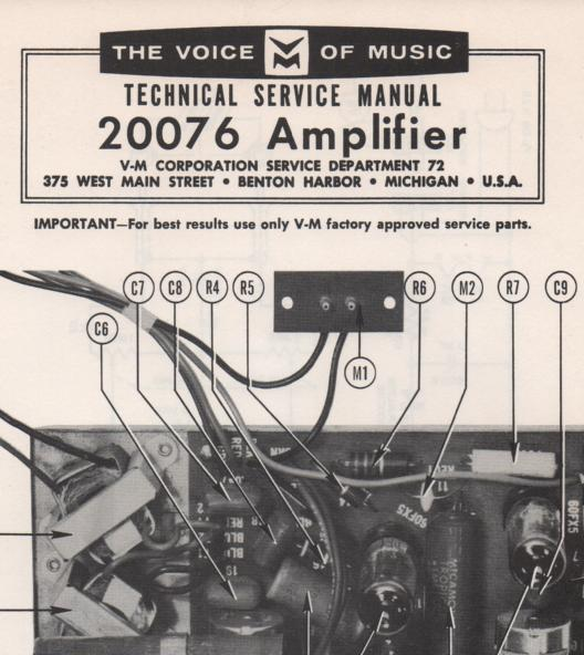 20076 Amplifier Service Manual