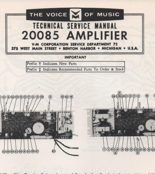 20085 Amplifier Service Manual