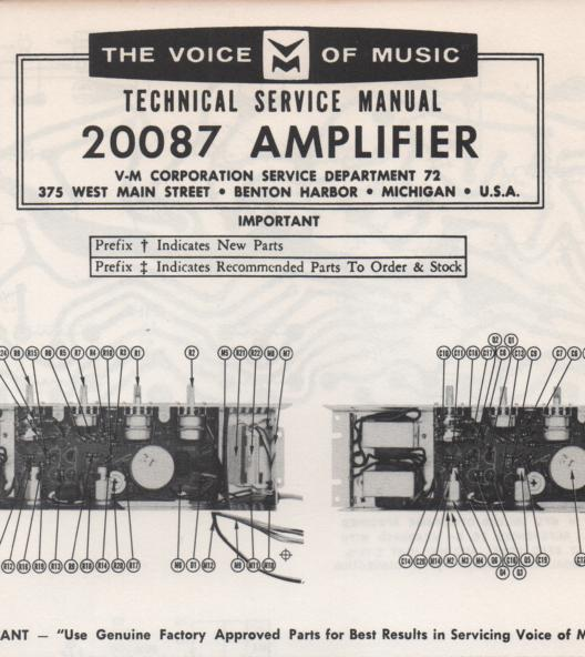 20087 Amplifier Service Manual