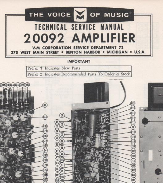 20092 Amplifier Service Manual