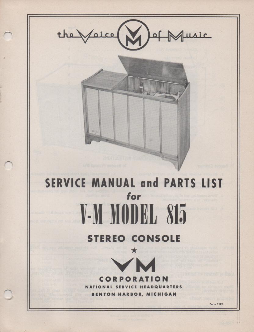 815 Console Service Manual