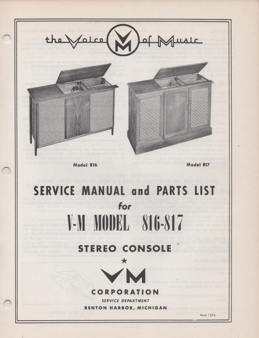 816 817 Console Service Manual