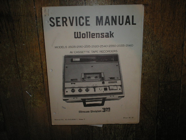 2505 2510 2515 2520 2540 2550 2555 2560 AV Cassette Tape Recorder Service Manual
