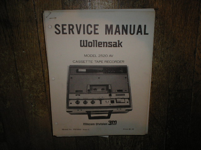 2520 AV Cassette Recorder Service Manual