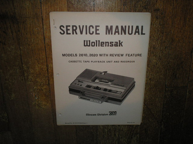 2610 2620 Cassette Tape Recorder Service Manual