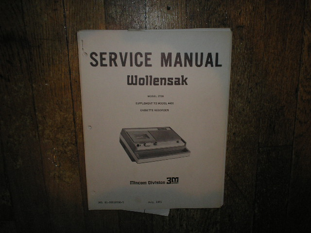 2720 4400 Cassette Tape Recorder Service manual