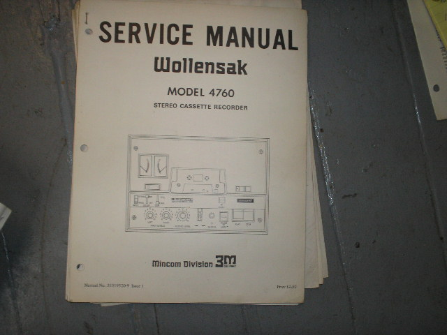 4760 Cassette Tape Recorder Service Manual