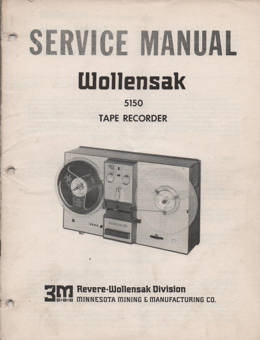 5150 Cassette Tape Recorder Service Manual
