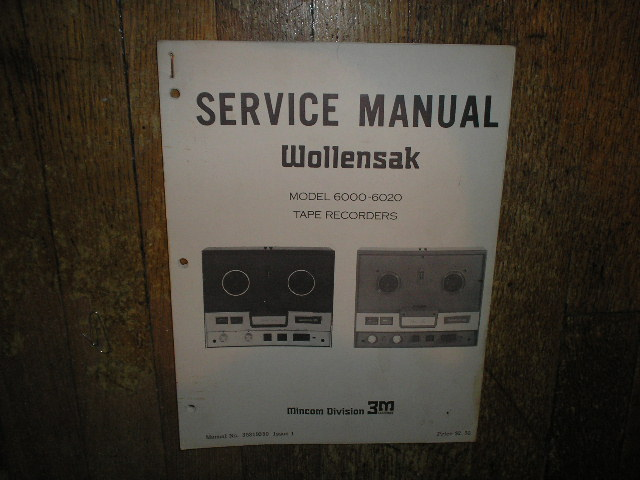 6000 6020 Reel to Reel Service Manual