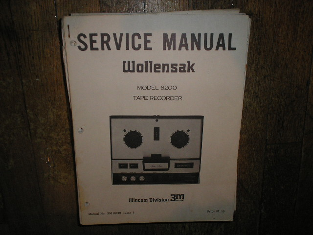 6200 Reel to Reel Service Manual