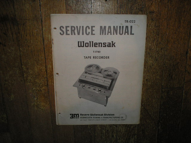 1780 Reel to Reel Service Manual