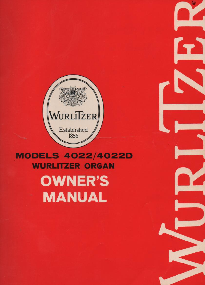 4022 4022D Owners Instruction Manual