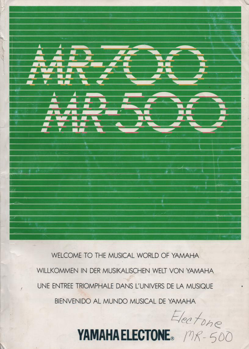 MR-500 MR-700 Keyboard Owners Manual English Version