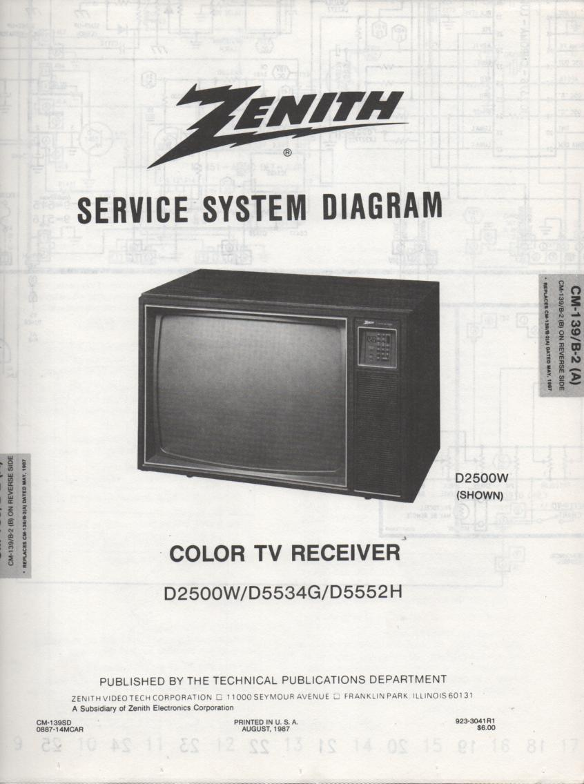 D5534G TV Schematic       D2500W Manual