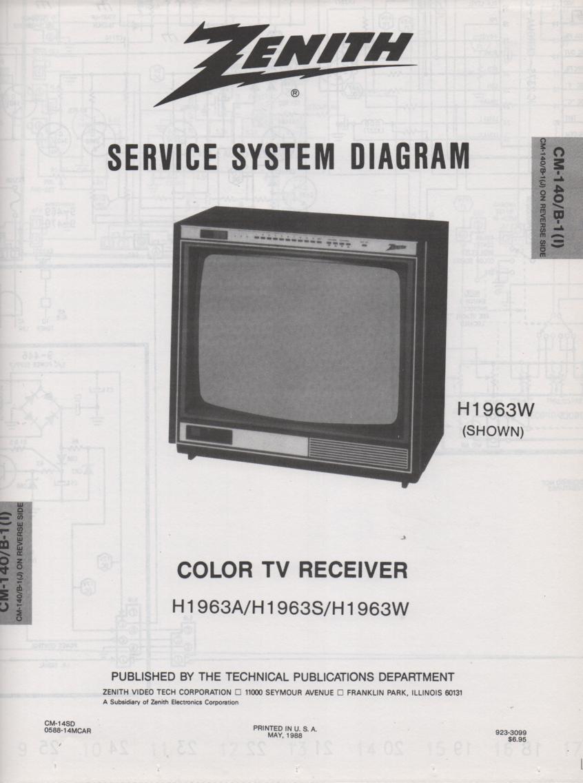 H1963S TV Schematic ..   H1963A Manual