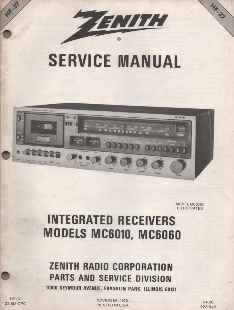 MC6010 MC6060 Stereo System Service Manual HF37