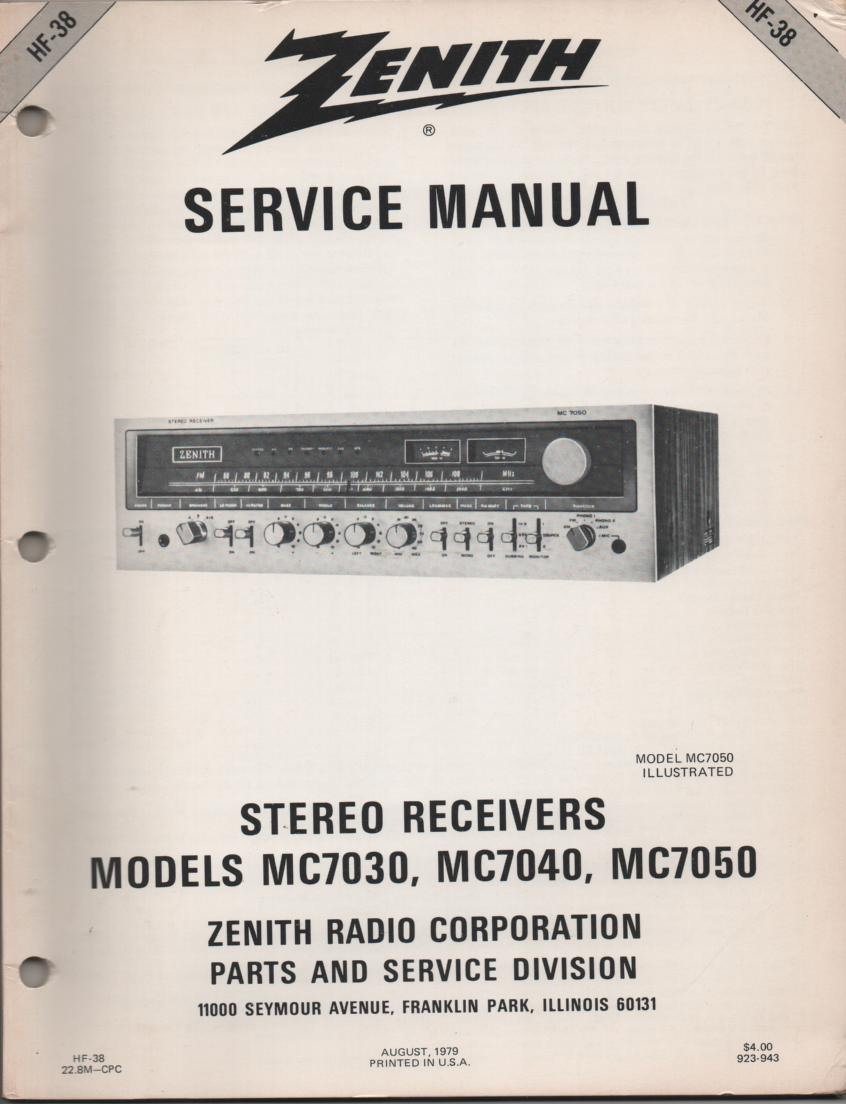 MC7030 MC7040 MC7050 Stereo System Service Manual HF38