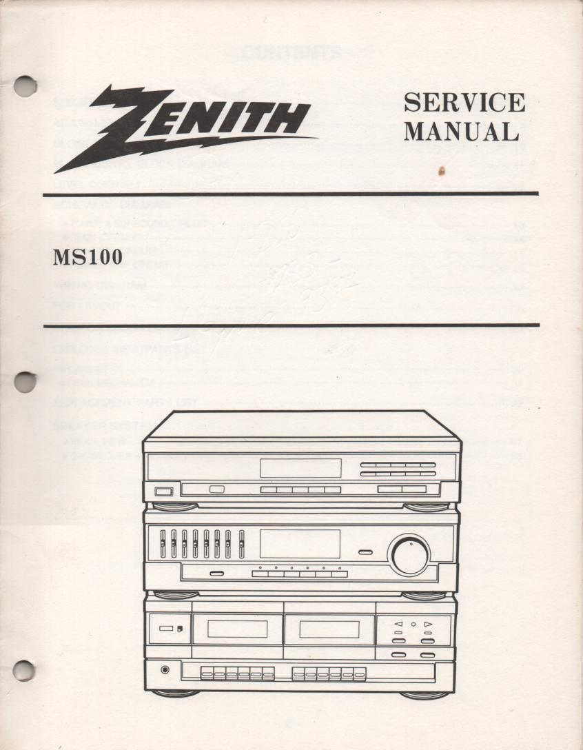 MS-100 Stereo System Service Manual