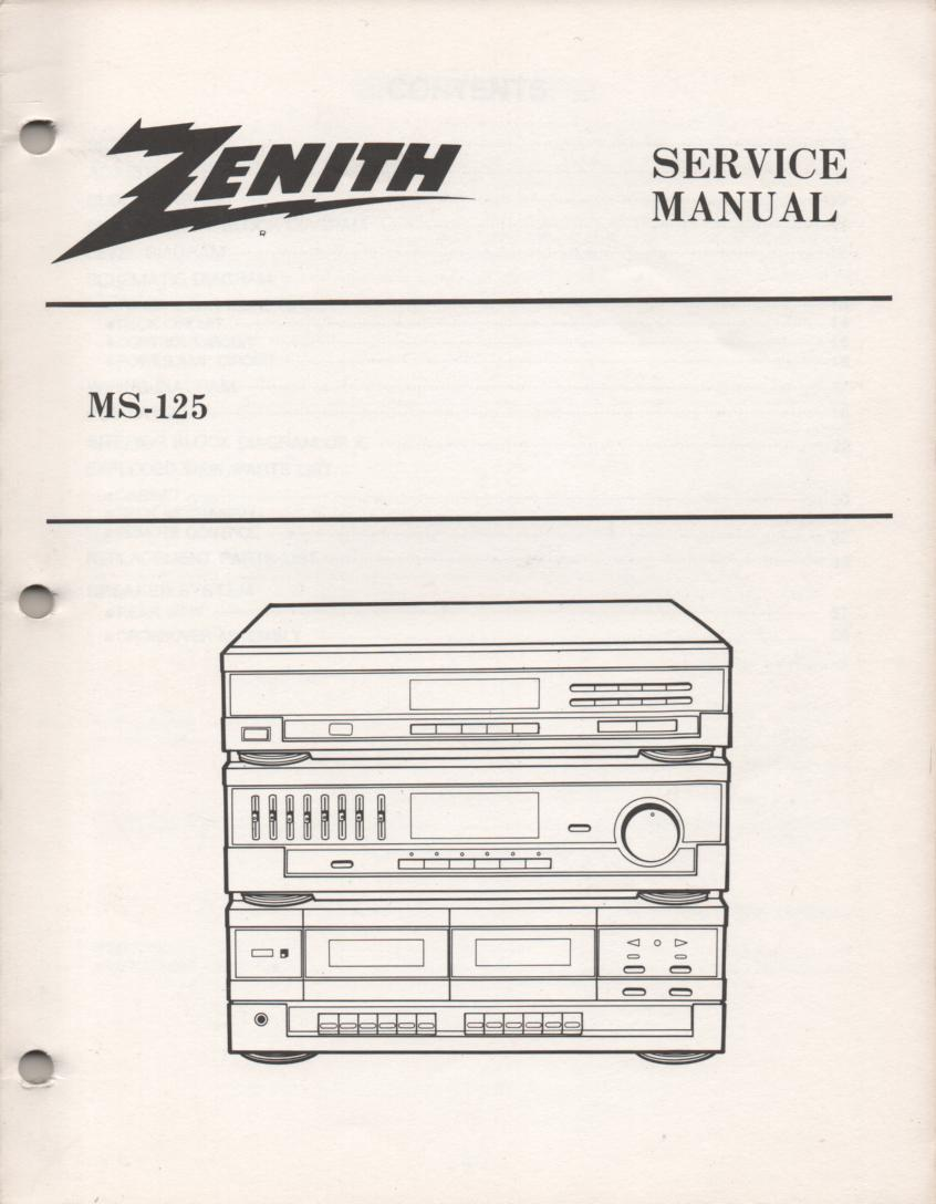 MS-125 Stereo System Service Manual