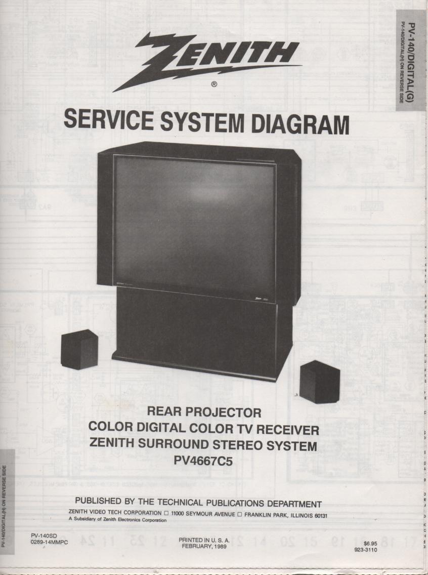 PV4667C5 TV Schematic ..