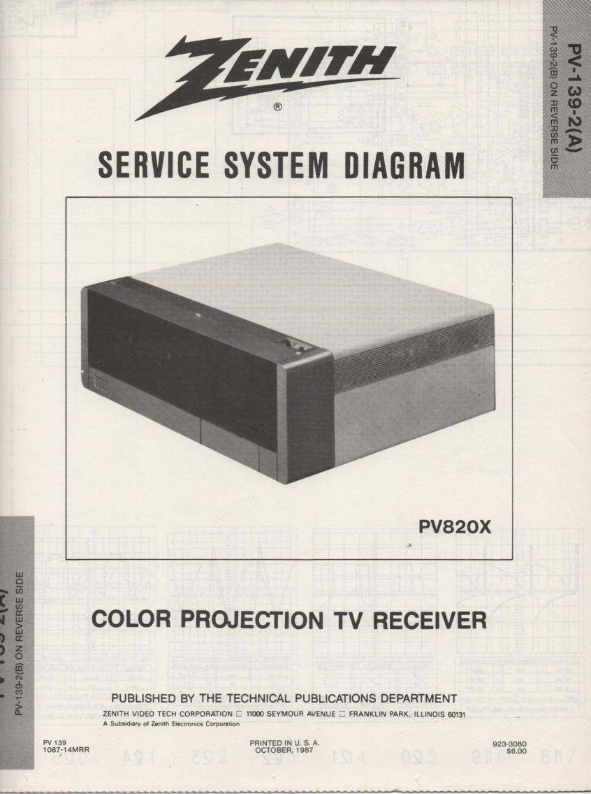 PV820X TV Schematic ..
