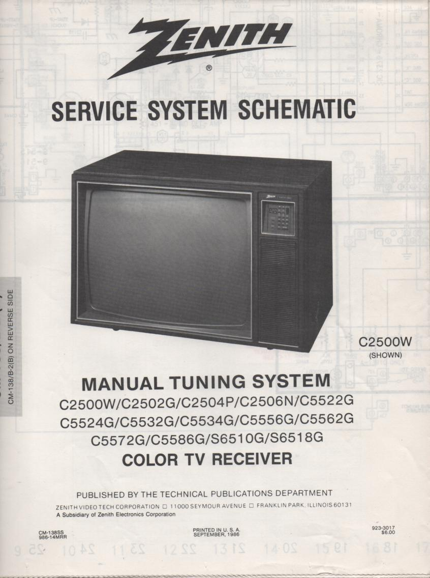 S6518G TV Schematic ..  C2500W Manual
