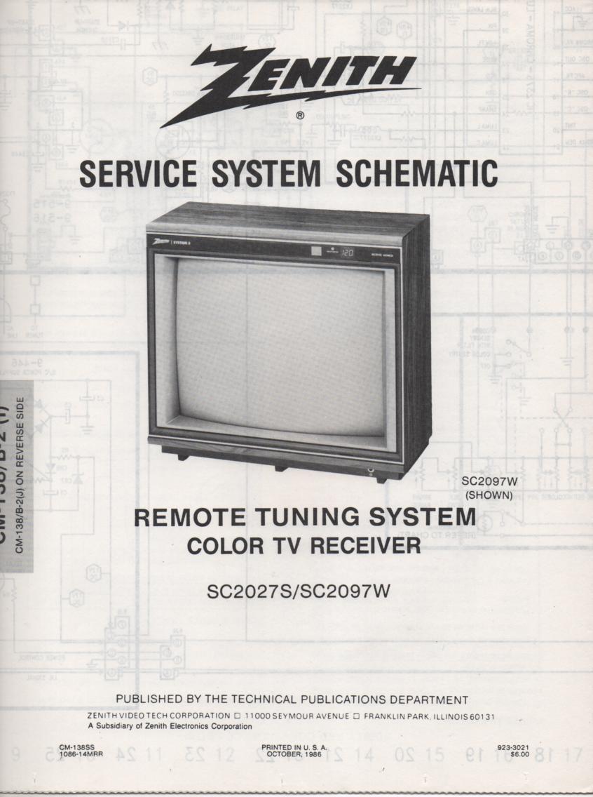 SC2097W TV Schematic ..