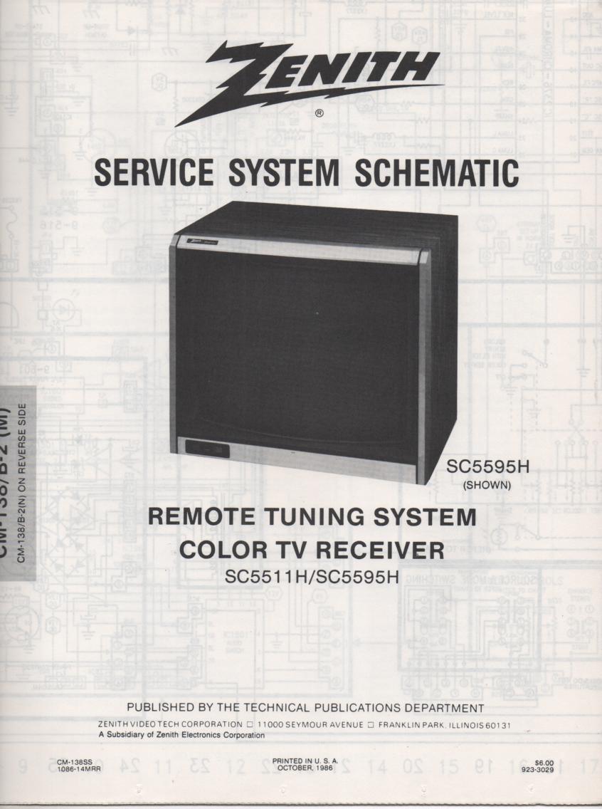 SC5595H TV Schematic ..  SC5511H Manual