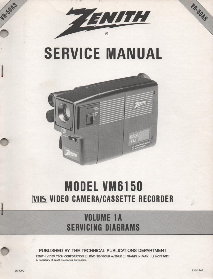 VM6150 Camcorder Schematics Service Manual