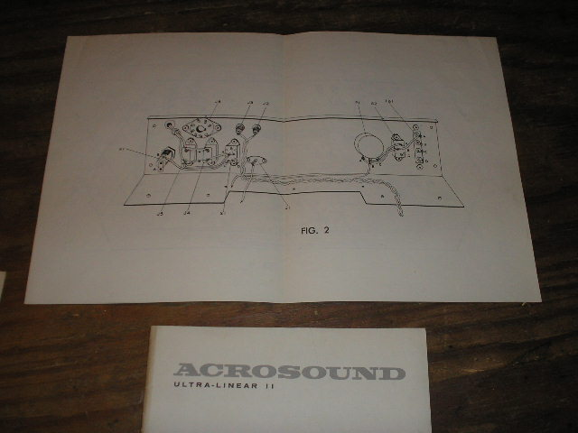Acrosound Ultra Linear II 2 Power Amplifier Assembly