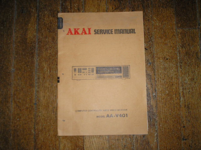 AA-V401 Audio Video Receiver Service Manual