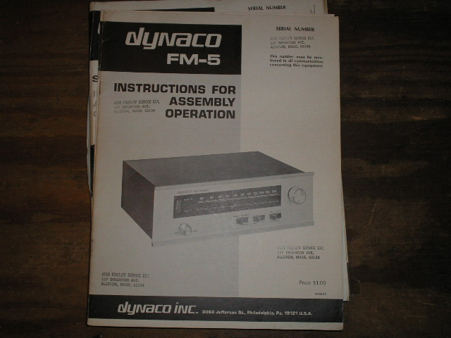 FM-5 TUNER Assembly Service Manual  Dynaco