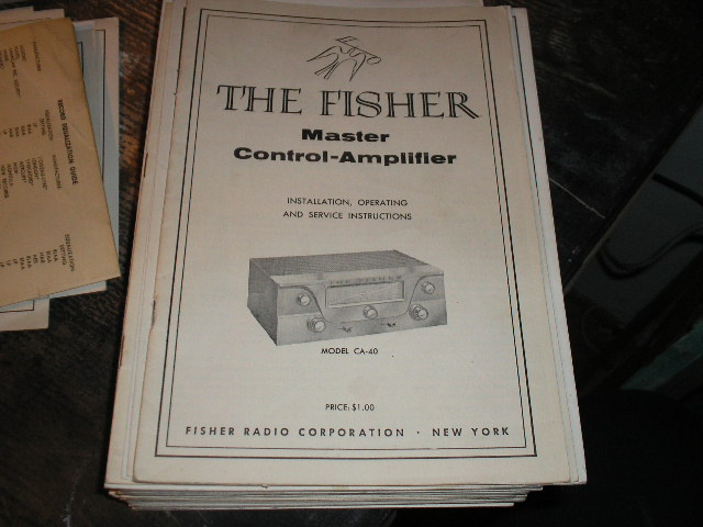 CA-40 Master Control Amplifier Installation Operating and Service Instruction Manual