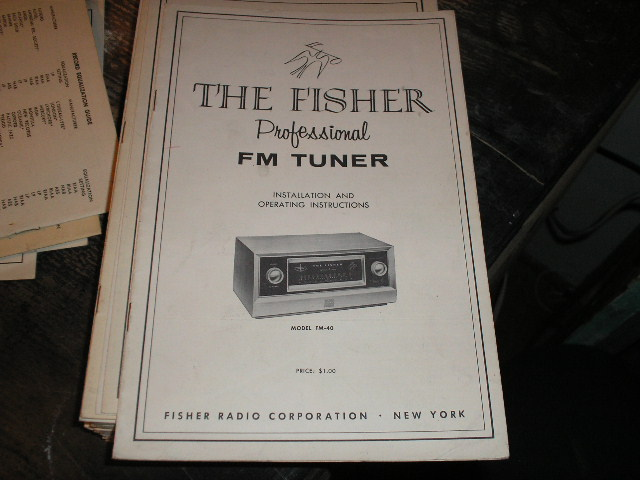 FM-40 Tuner Service Manual  Fisher